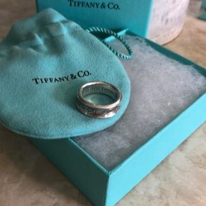 Authentic  Tiffany & Co. sterling silver 1837 ring